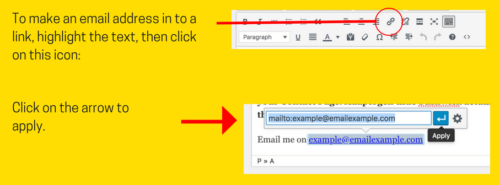 Adding an email link in WordPress Visual Editor