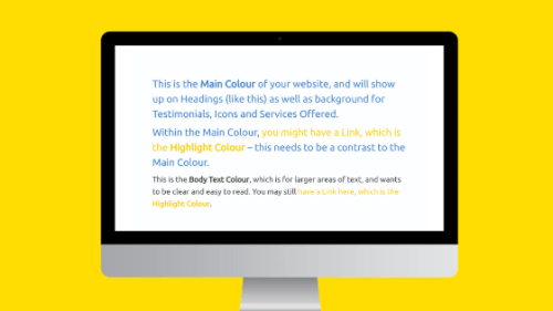 Examples of Colours for Flat White websites