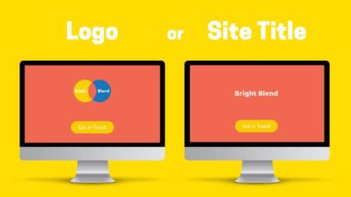 Logo or Site Title on desktops