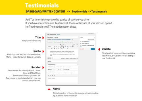 How to add a Testimonial Infographic