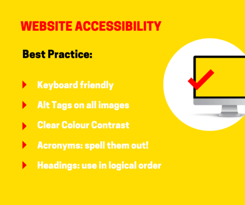 Accessibility graphic for Website Jargon blog