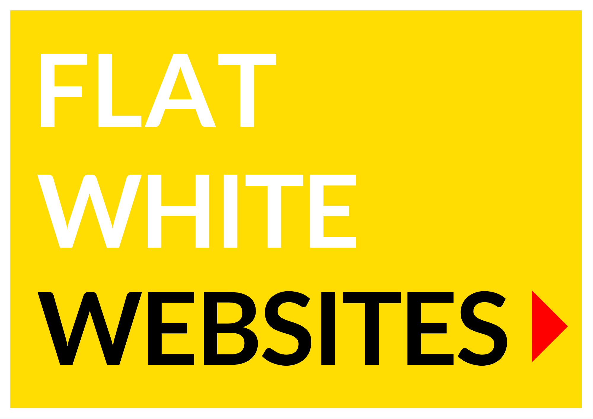 FLAT WHITE WEBSITES