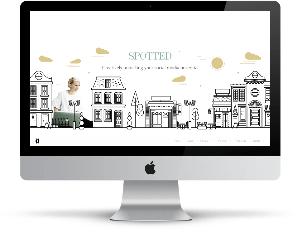Showcase: Creatively Spotted website on desktop