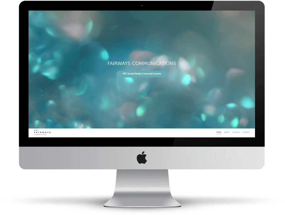 Showcase: Fairways Communications website on desktop