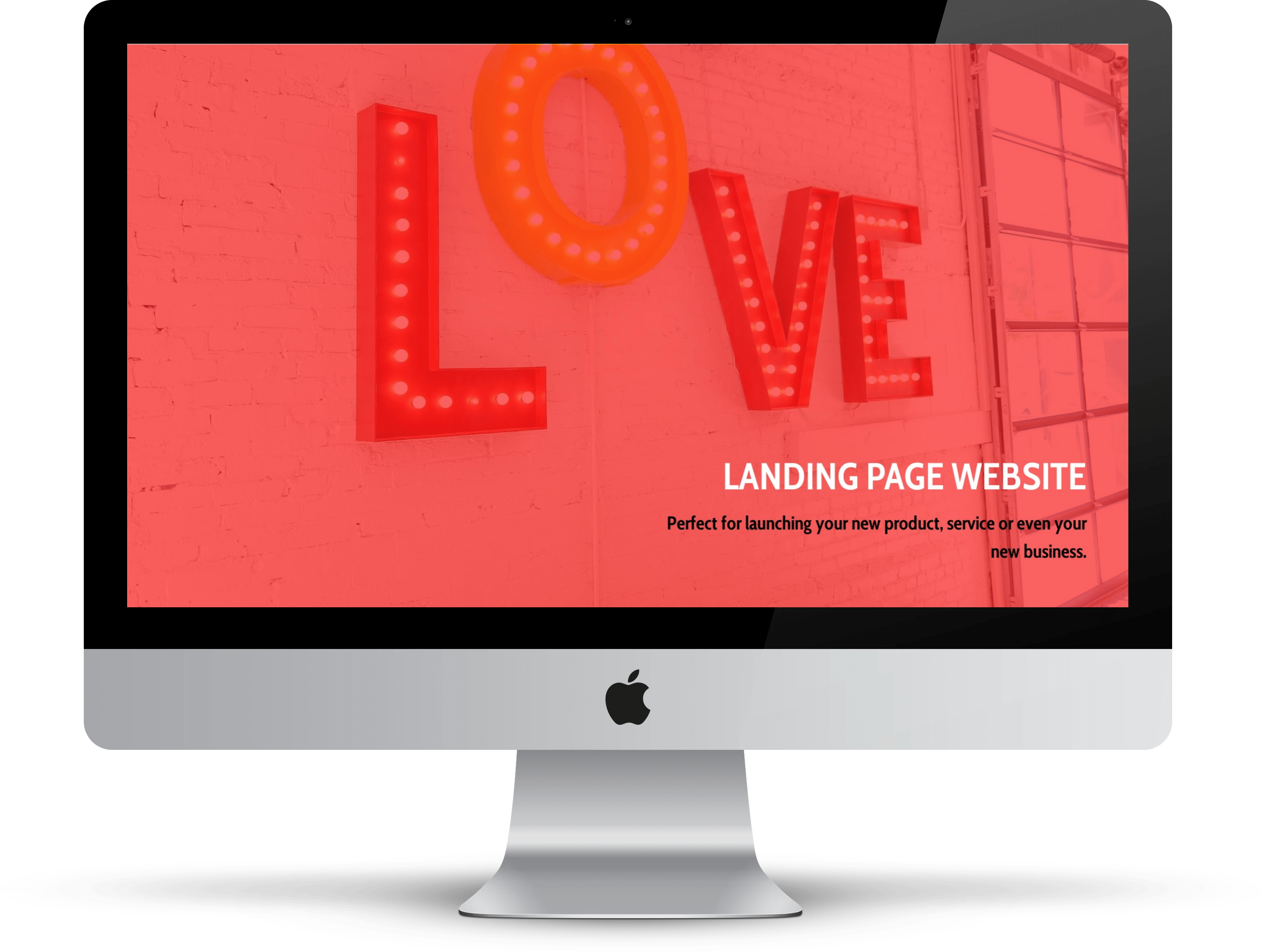Landing Page website by Flat White Websites