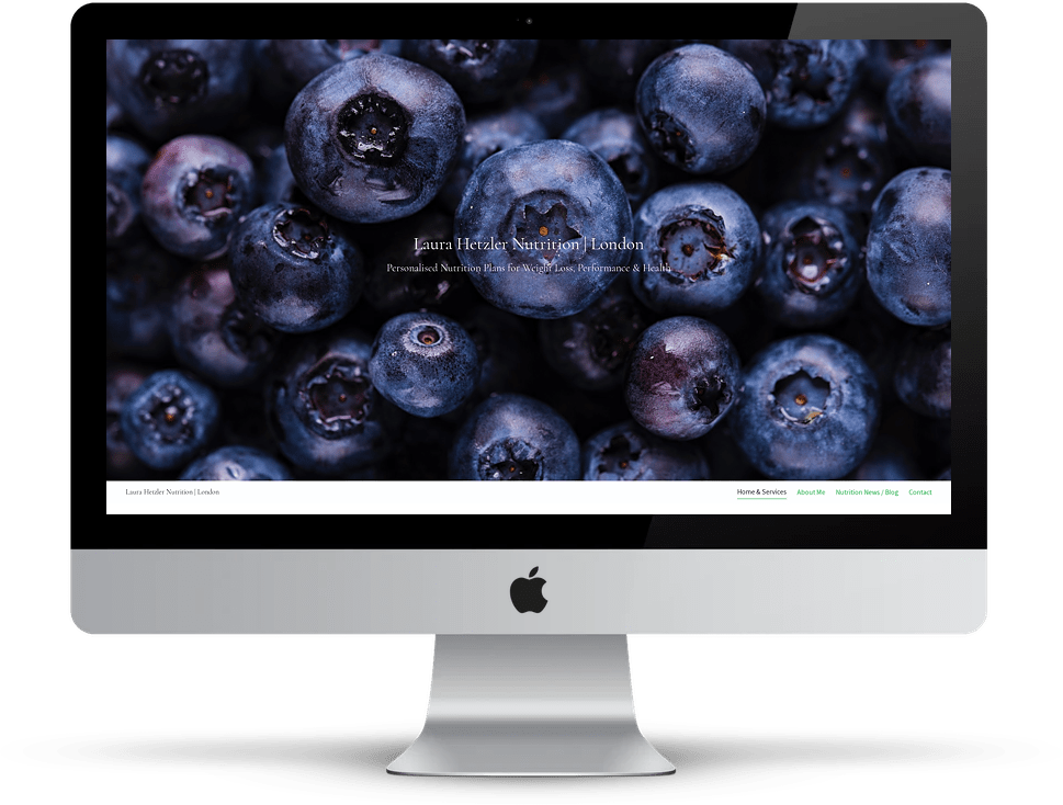 Showcase: Laura Hetzler Nutrition website on desktop