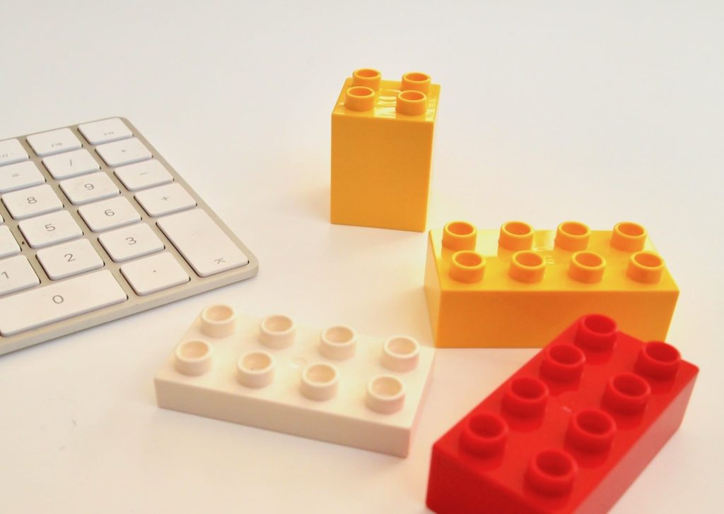 Building blocks for website copy