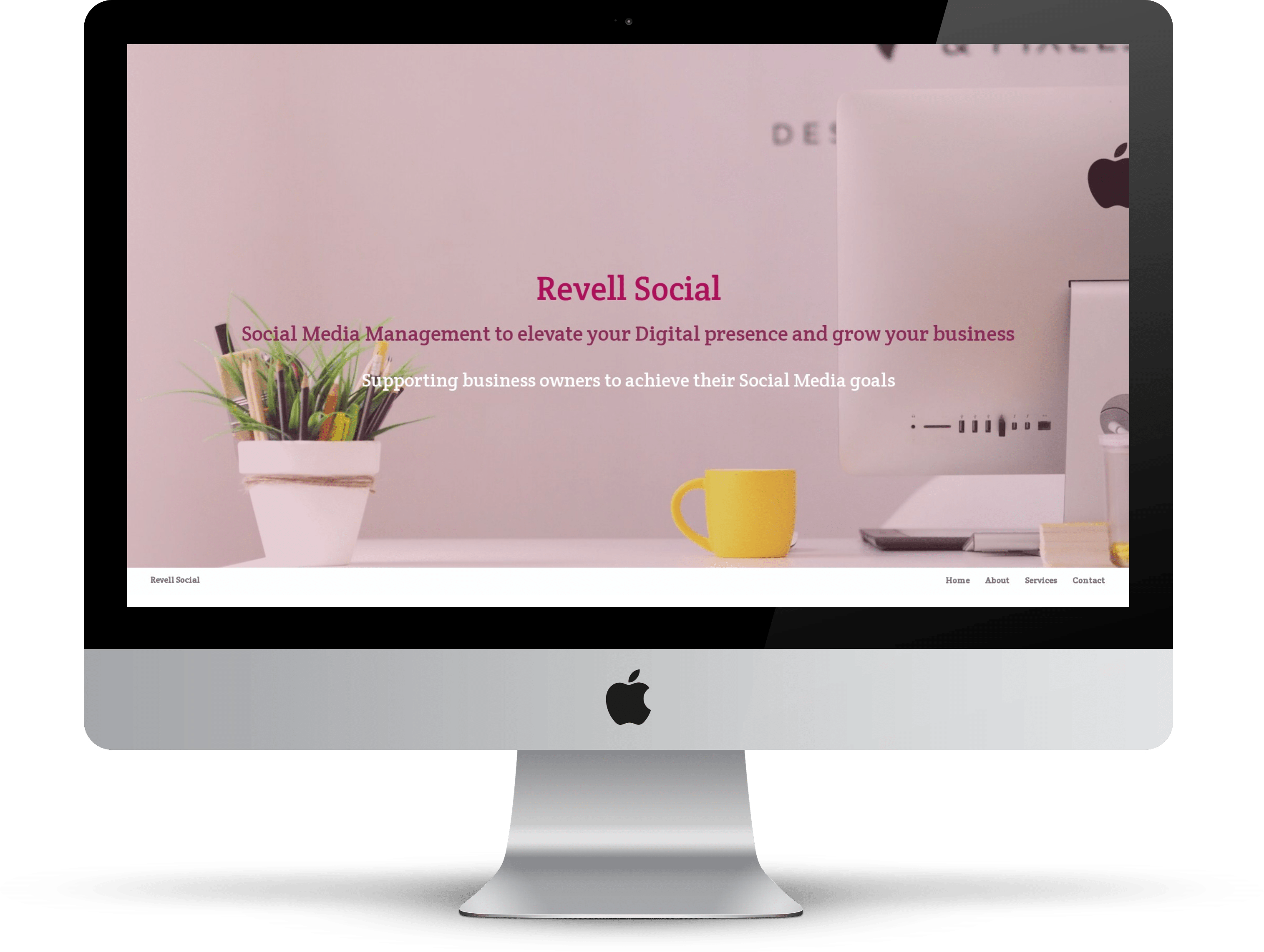 Revell Social website on desktop