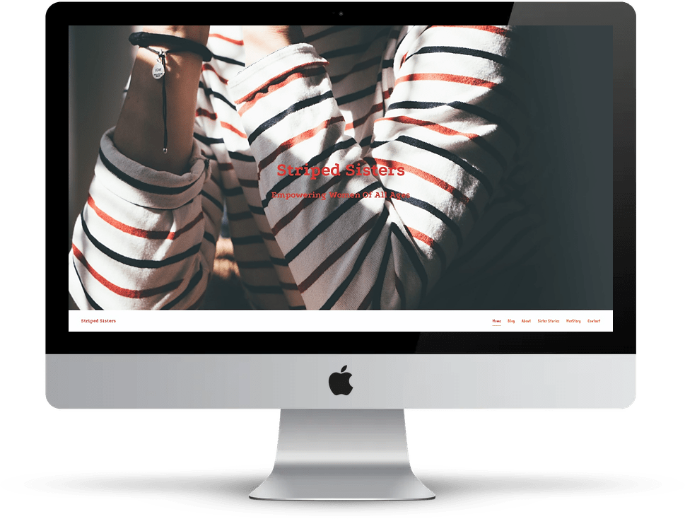 Striped Sisters website on desktop
