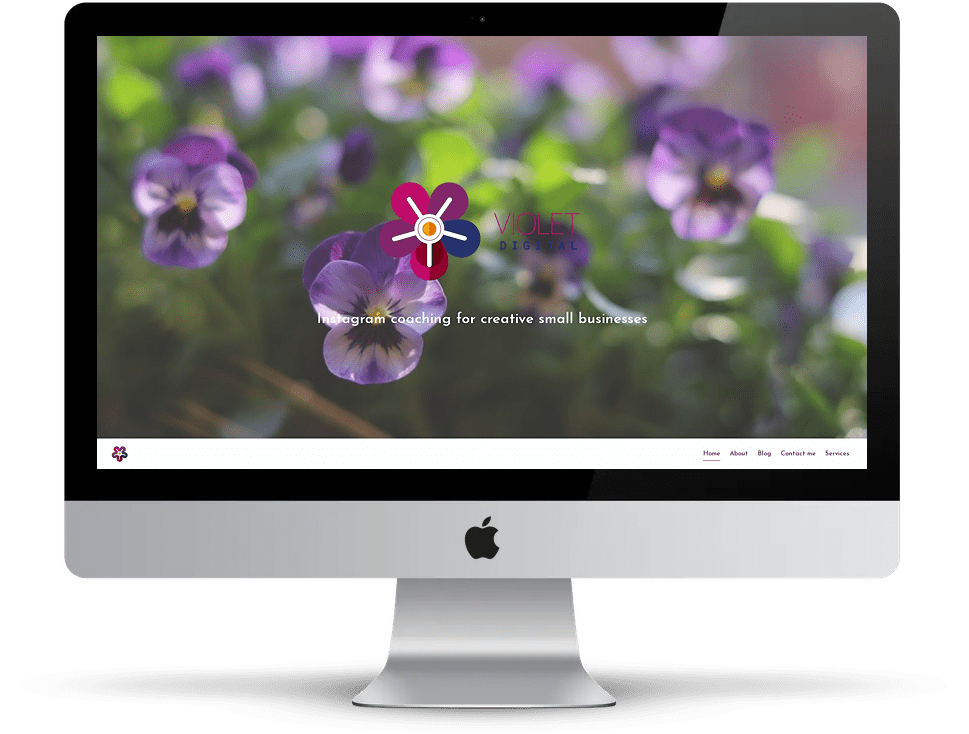 Violet Digital website on desktop
