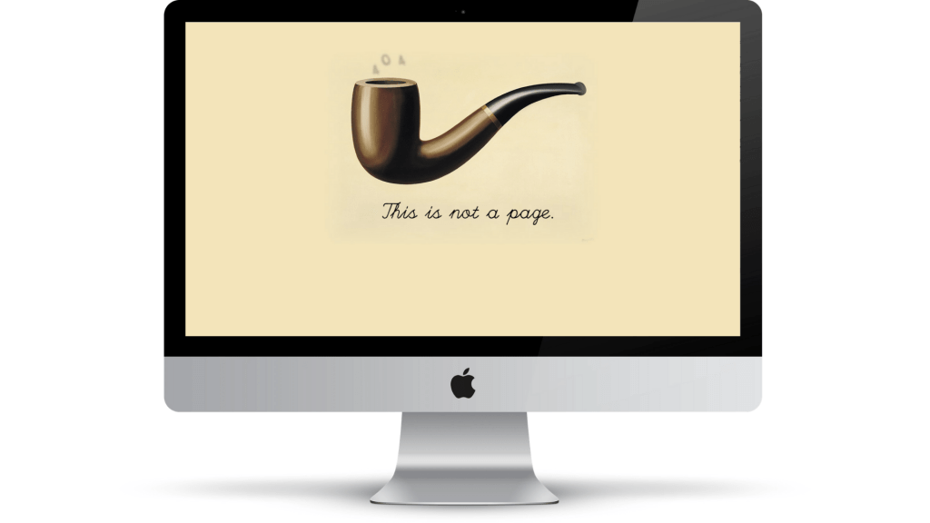 Brett Victor 404 page, showing pipe