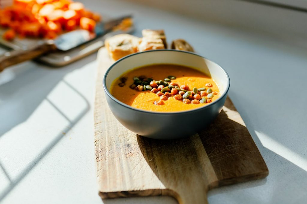 Detail of soup by Kate Hollingsworth - personal branding photography
